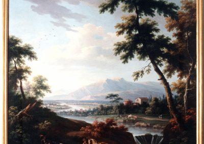 Cignaroli, paesaggio con figure