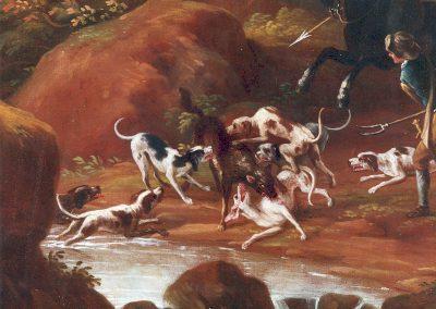Cignaroli, particolare caccia al lupo