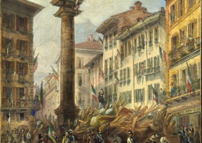 Bossoli-Barricate in Piazza San Babila Durante le Cinque Giornate di Milano_25cm-300dpi
