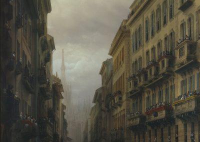 Bossoli-Scene di carnevale a Milano nel 1847